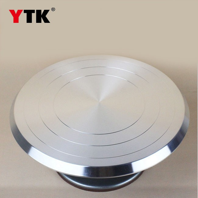 Baking tools 12 inch aluminum alloy cake silk flower turntable cake turntable pottery clay pot bonsai turntable turntable