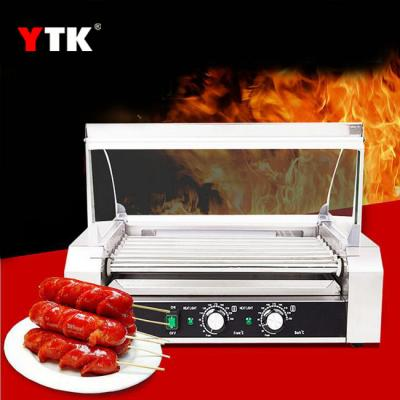 Commercial 7 tube sausage machine food processing double temperature control stainless steel 9 tube hot dog machine roast beef ball fish eggs