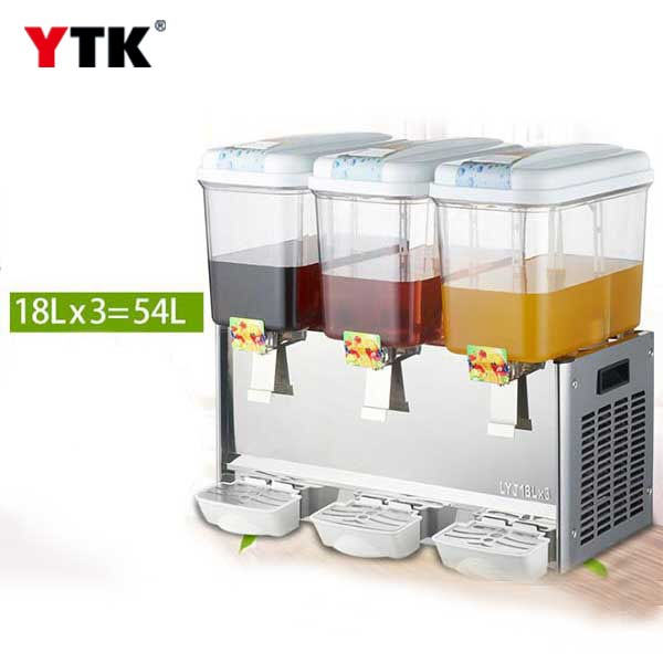 Cold drink machine commercial / fully automatic three-cylinder tea beverage juice machine / stirring hot / single cold buffet