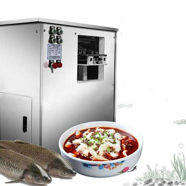 Inclined fish fillet machine automatic multi-function sauerkraut fillet machine electric commercial boiled fish cut fish fillet machine
