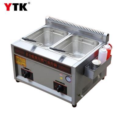 Double Cylinder Gas Fryer / Commercial Gas Fryer / Double Pan Fryer / French Fries Chicken Steak Chicken Wing / Factory Direct Sales
