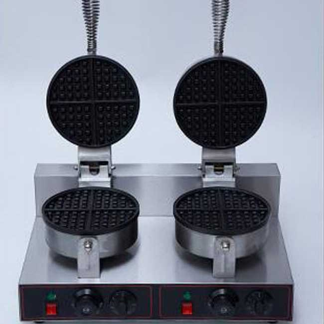 Double-headed waffle oven Commercial electric double-headed waffle machine with timing muffins machine