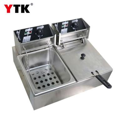 Electric double cylinder double screen electric fryer fried chicken stove electric fryer commercial