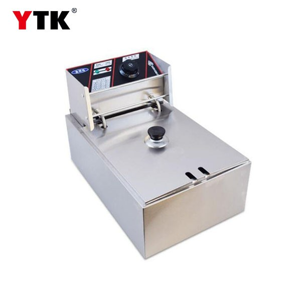 Factory direct sales/ single cylinder stainless steel electric fryer / deep fryer / French fries machine / fried chicken stove / fryer / electric fryer / commercial