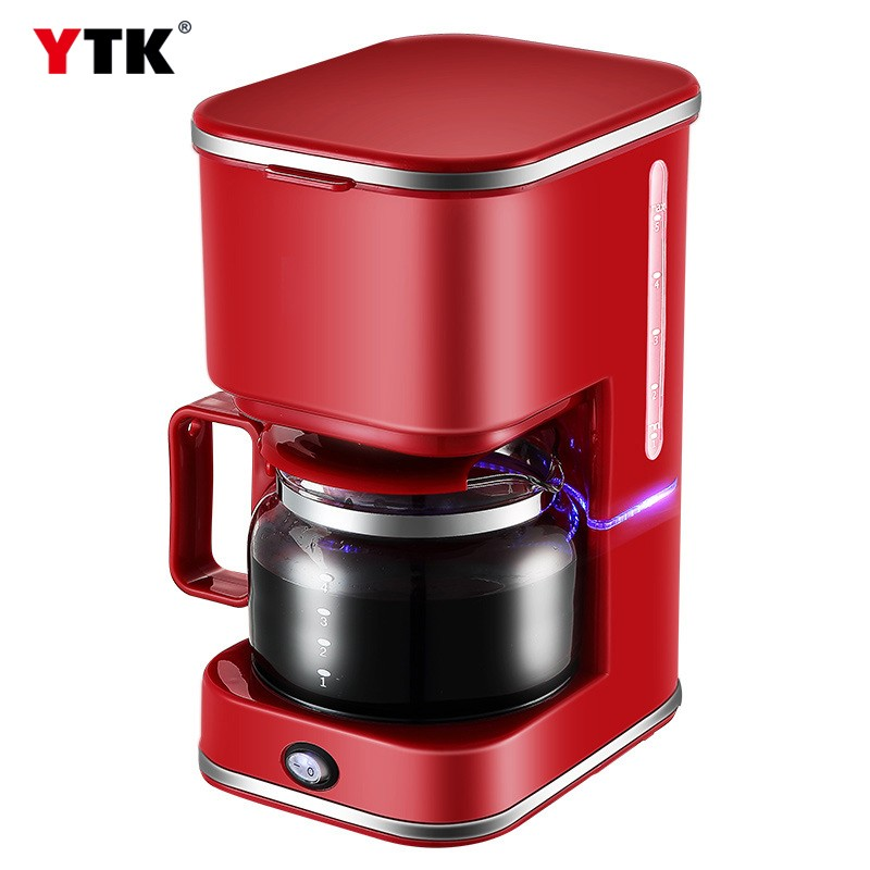 Fully automatic household coffee machine American mini drip coffee maker brewed tea