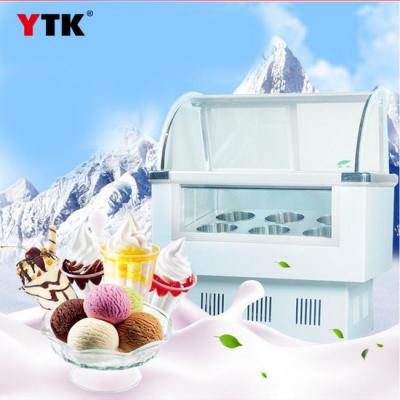 Hard ice cream snow bar display counter type ice cream popsicle frozen ice cream machine commercial straight cold freezer