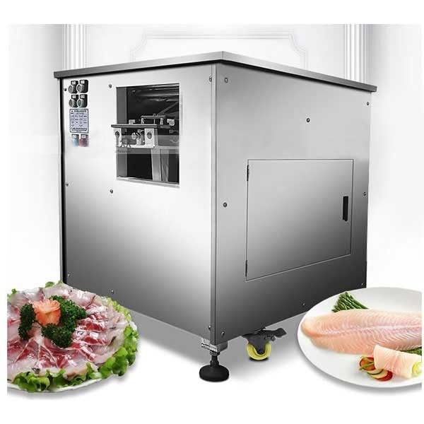Inclined fish fillet machine / fully automatic multi-function sauerkraut fillet machine / electric commercial boiled fish cut fish fillet machine