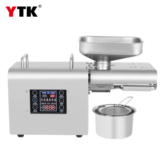 Intelligent oil press stainless steel LCD touch screen household commercial oil press wholesale export