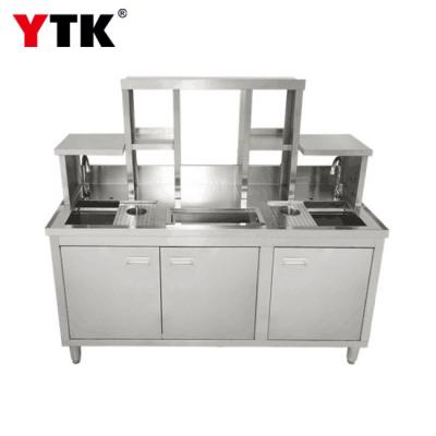 Milk tea console stainless steel console water bar milk tea counter refrigerator bar equipment