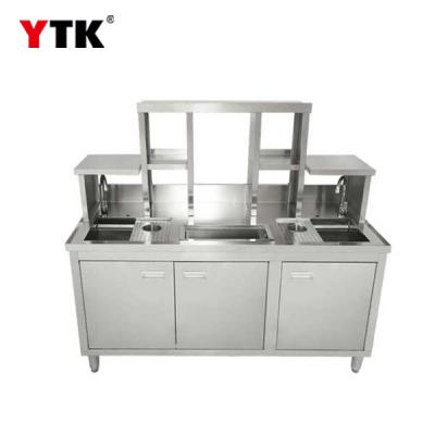 Milk tea console / stainless steel console / water bar / tea table / milk tea table / milk tea refrigerator bar equipment