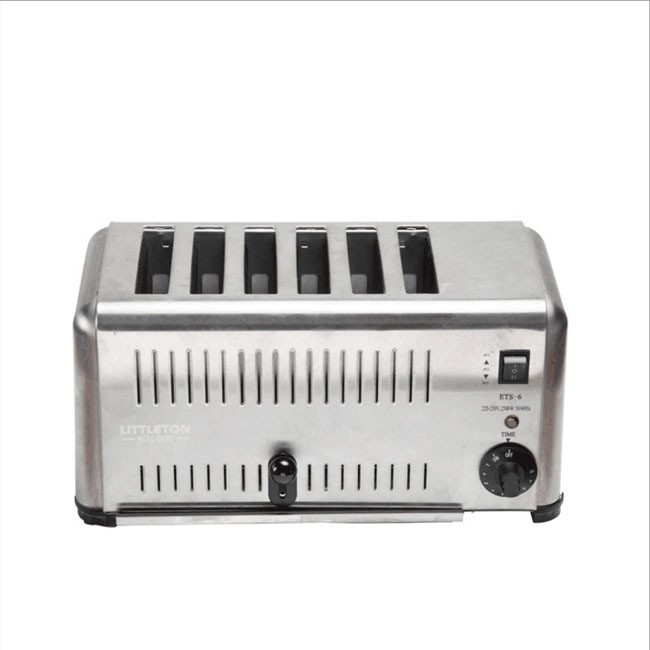 Six-piece toaster oven toaster commercial fully automatic soil driver one-button breakfast toaster