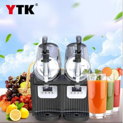 Double cylinder small mini snow melting machine sand ice machine beverage shop cold drink machine snow mud machine