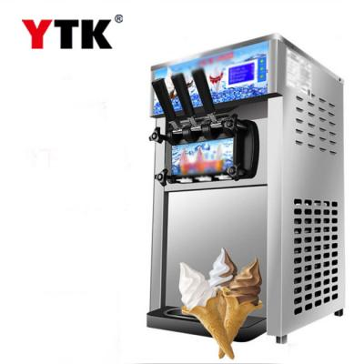 Soft ice cream machine desktop commercial small ice cream machine stainless steel ice cream machine factory direct supply