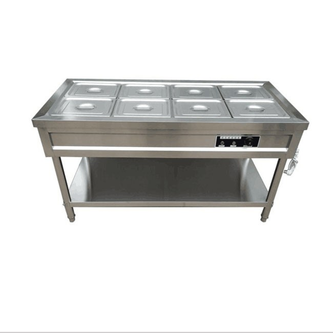 Commercial stainless steel glass cover insulation selling table desktop food truck