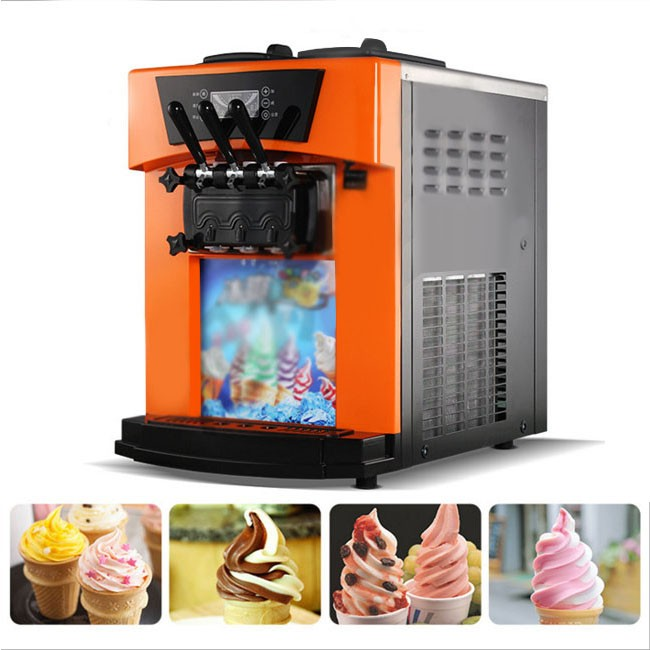 Vertical ice cream machine commercial automatic ice cream machine three color soft ice cream cone machine ice cream