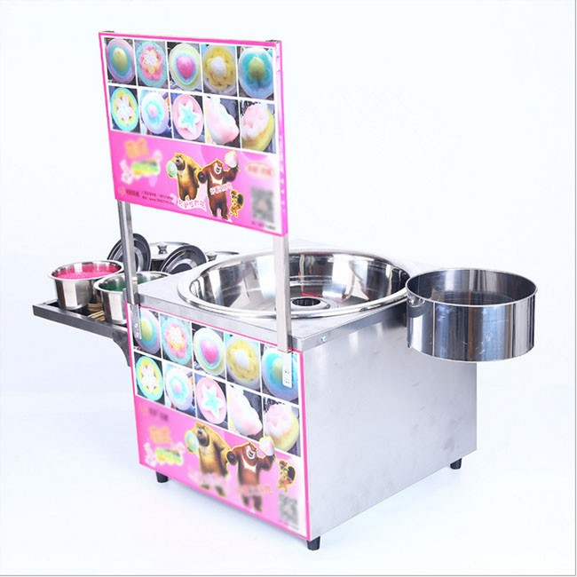Cotton candy machine commercial color fancy drawing gas electric marshmallow machine advertising card