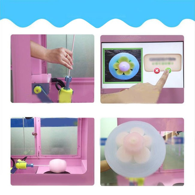 New automatic cotton candy robot commercial mall self-service electric fancy silk cotton candy machine