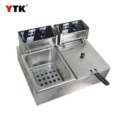 Factory direct / electric double cylinder double screen electric fryer / deep fryer / fryer / fryer / fried chicken / electric fryer / commercial