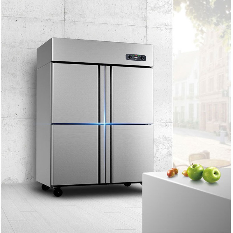 4-door refrigerator commercial vertical four-door dual-computer dual-temperature freezer/ freezer refrigerator
