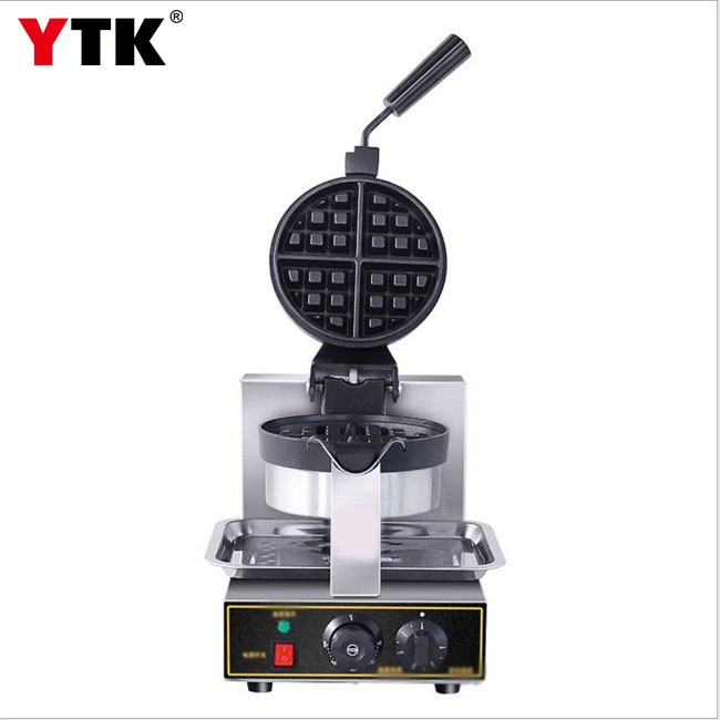 Commercial electric heating waffle machine Thick double-sided heating single-head muffin waffle furnace