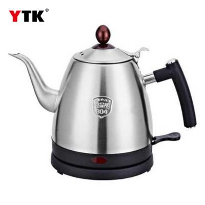 Yiya 304 stainless steel electric kettle coffee boiled water bottle / quick pot / hand teapot long mouth