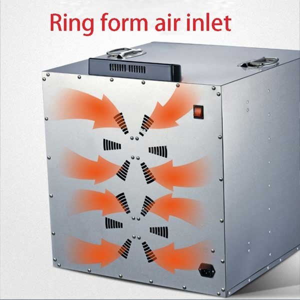 Hot air circulation stainless steel fruit and vegetable drying machine