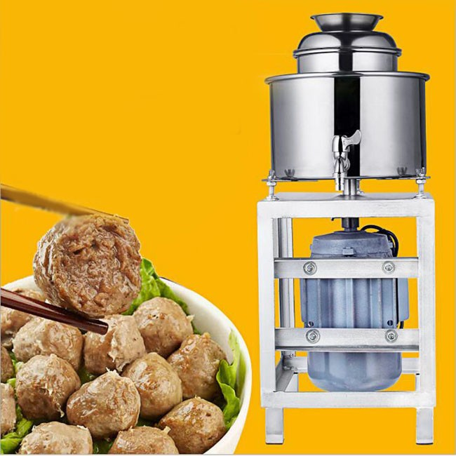 Commercial multi-function high-power stainless steel meatball fish ball shrimp pill beater meat grinder