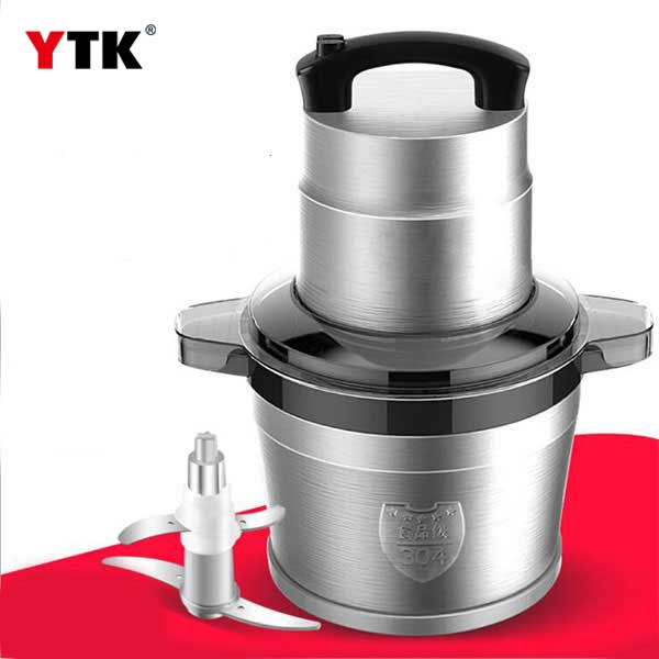 Large capacity 6L liter meat grinder / electric commercial / stainless steel mincer / garlic machine / vegetable cutting machine / cooking machine
