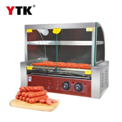 New commercial sausage machine hot dog machine home automatic roast sausage machine double temperature control with door