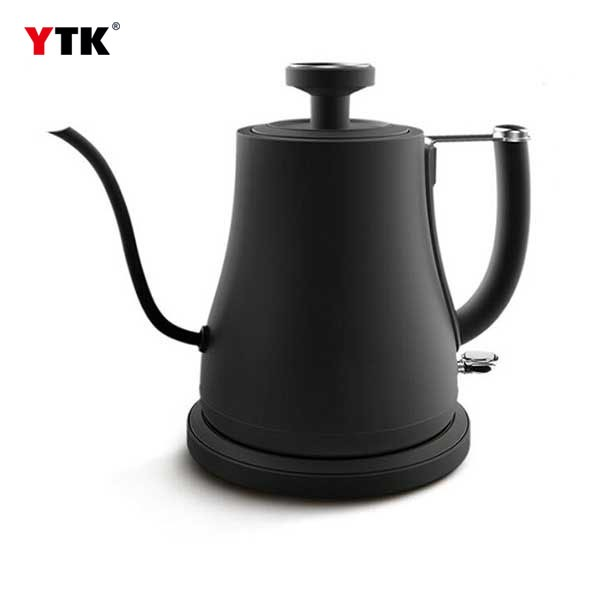 Restaurant hanging ear coffee maker hand coffee pot / electric long mouth fine mouth with thermometer stainless steel coffee pot