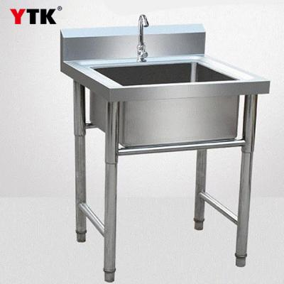 1.75m three-eye stainless steel pool hotel three-hole water bucket double pool kitchen three grid sink