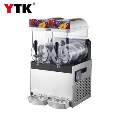 Commercial snow melting machine two-cylinder stainless steel Snow mud machine tea shop double-cylinder juice smoothie machine